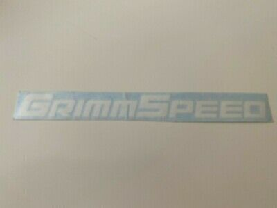 NEW Genuine Grimmspeed White Decal