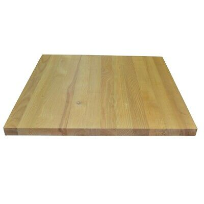 Square 700mm² Solid Wood Table Top in Light Beechwood for Cafe and Dining Use