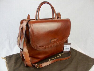 THE BRIDGE *current* large classic brown leather business bag/briefcase 04125701