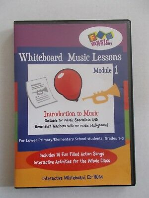 - Whiteboard Music Lessons Module 1 [Cd-Rom] Intro To Music