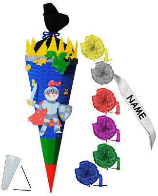 """Craft Set School Bag - """" Knight with Dragon & Castle """" - 85 cm - Incl. Individ"""