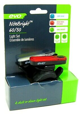 Evo E-Tec Panorama HL Front Safety Light 100 Lumens 3-Mode Bicycle Light