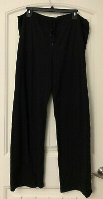 Cuddl Duds Comfortwear French Terry Lounge Pants, Black, 1X. A280225