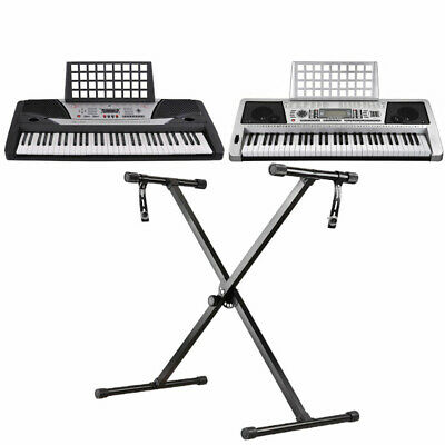 61 Key Digital Electronic Keyboard LCD Electric Piano Organ with X Frame Stand