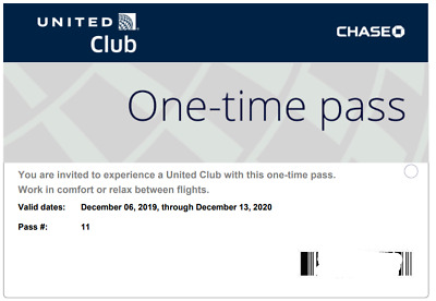 TWO 2 United Airline UA VIP Club Lounge One-Time Pass EXP 12/13/2020