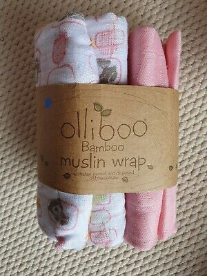 Olliboo Bamboo Muslin Wrap Set Of 3