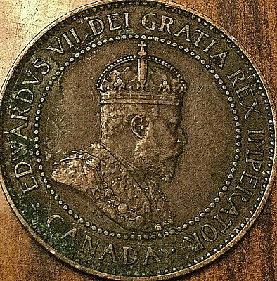 1903 CANADA LARGE CENT COIN LARGE 1 CENT PENNY - Good example!