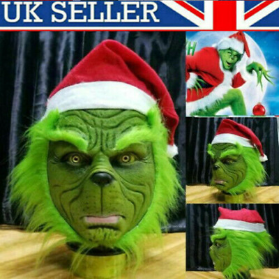 Xmas The Grinch Glove Cosplay Mask Costume Christmas Prop How the Grinch Stole A
