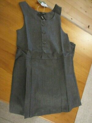 BNWT 2 x pack Girls grey Pinafore school dress age 5 - 6 years Top Class brand