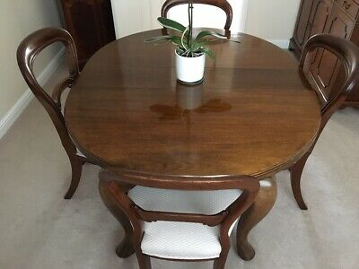 Antique Mahogany Dining set - Edwardian extending table and 6 Victorian chairs