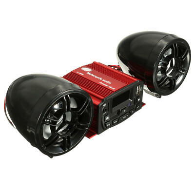Motorcycle Audio System 12V Audio Remote Control Sound Speaker SD USB MP3