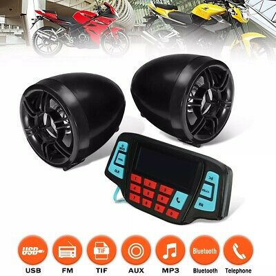 Motorcycle Audio System 12V Remote Control Sound Speaker SD USB MP3 FM bluetooth