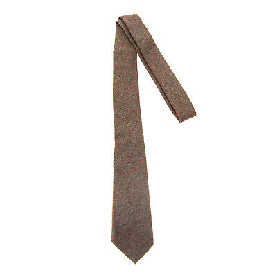 RRP €140 DRIES VAN NOTEN Cashmere & Silk Necktie Patterned Skinny Made in Italy