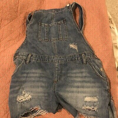 Ripe Denim Maternity Overall Shorts Medium