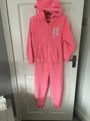 Girls Next Pink Hooded One Piece Age 8 Years.