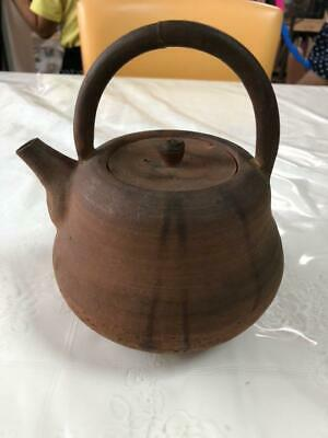 Bizen Ware Weight Mark Teapot