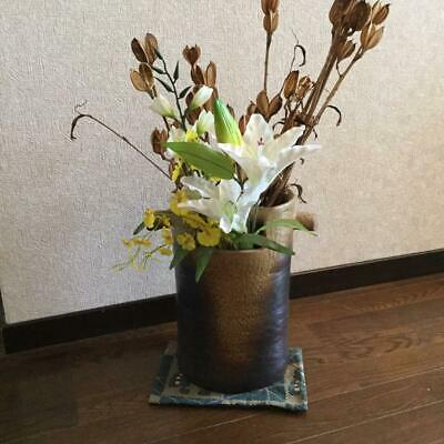 Bizen Ware Hand Bucket Flower Case Vase Storage Interior