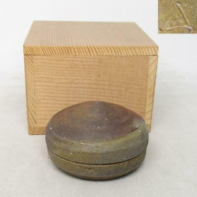 Bizen Ware Human National Treasure Yamamoto Tao Xiu Make Orb-Shaped Incense