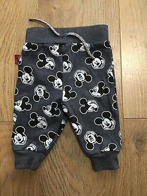 Disney At Primark Baby Boys Blue Mickey Mouse Tracksuit Bottoms 3-6 Months K369