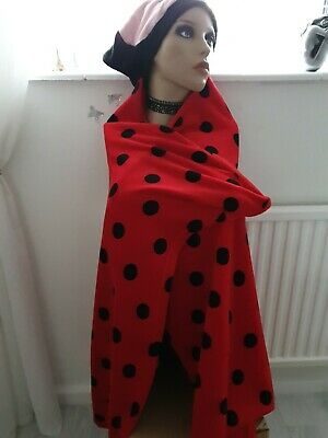 Super soft Ladybird Hooded Snuggle Blanket one size