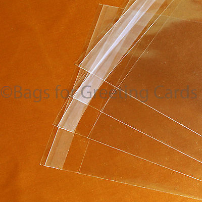 Quality Square 30micron Clear Cello Bags - For Greeting Cards