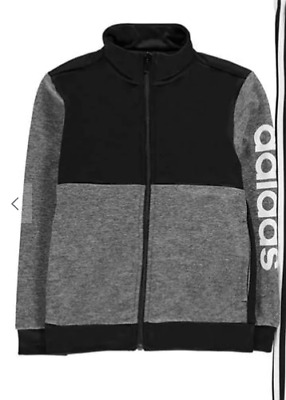 ADIDAS Linear Logo Poly Tracksuit Top Junior Boys Age 9-10 REF:C1368^
