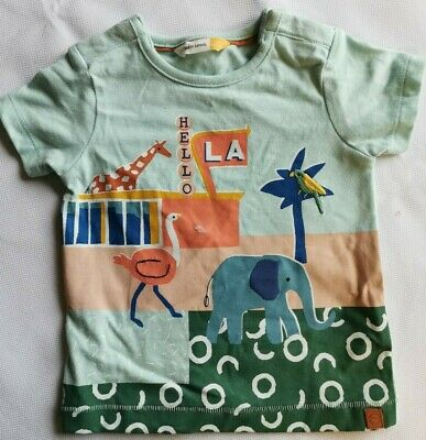 John Lewis Baby ANINMALS T-Shirt  Multi 0-3 MTHS FREE P&P BRAND NEW WITH DEFECT