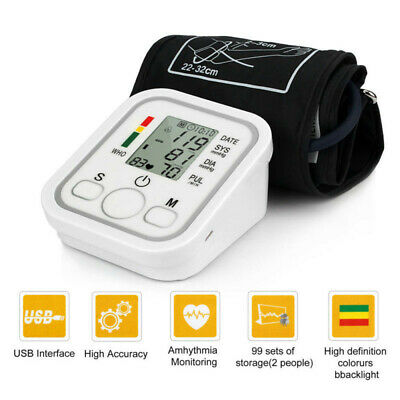 Automatic Digital LCD Arm Blood Pressure Monitor Heart Beat Meter High Accuracy