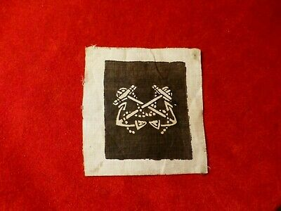 Original Rare Civil War Era Naval Patch With Anchors Designing Duty As Sea
