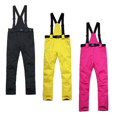 Unisex Women Men Ski & Snow Bib Overall Winter Insulated Pants Bib Trousers