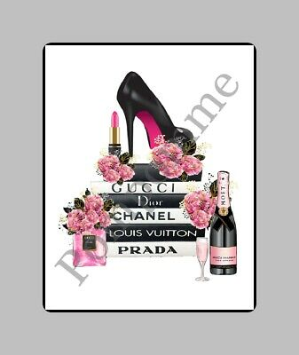 A4 Coco Chanel Perfume Fashion Print Digital Art Poster Wall Decor Picture Gift