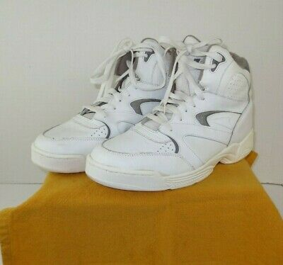 MacGregor Vintage White Leather High Top Basketball Shoes Sneakers Mens Sz 9-1/2