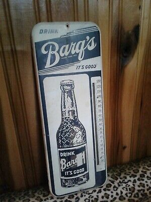 """Barq's Thermometer (Approximately 9 3/4"""" wide x 25 3/4"""" Long)"""
