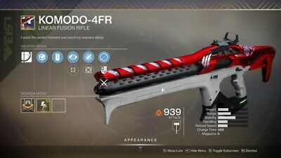 Destiny 2 Shadowkeep Komodo-4FR Full Quest+rating 1 day Recovery Ps4/PC/Xbox