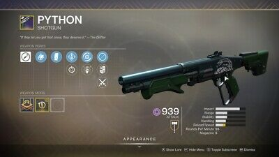 Destiny 2 Shadowkeep Python Full Quest+rating 1 day Recovery Ps4/PC/Xbox