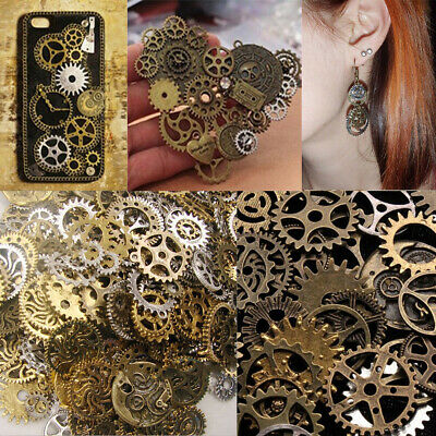 50g Mixed Jewelry Findings DIY Art Crafts Punk Steampunk Gears Cogs