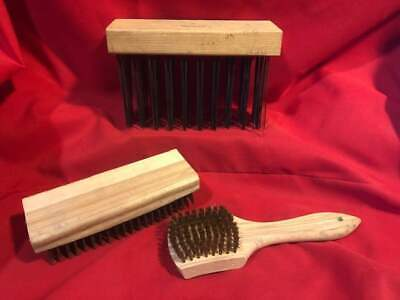 WIRE BRUSHES brass or carbon steel bristles Grill Cleaning Prep