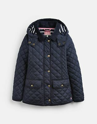 Joules Girls Newdale Quilted Coat 3 12 Years in MARINE NAVY Size 7yrin8yr