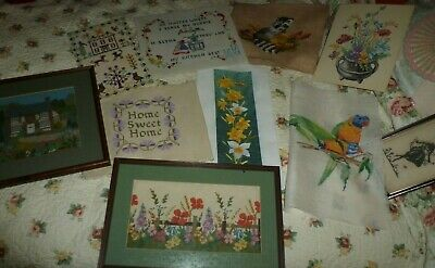Vintage embroideries job lot 10 lovely items