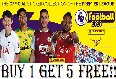 Panini Football 2020 Premier League Sticker Collection #1-250  BUY 1 GET 5 FREE!