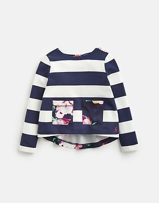 Joules Girls Ria Jersey Woven Mix Top 1 6Yr in NAVY STRIPE Size 6yr