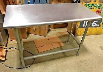 """Stainless Steel Prep Table Commercial Heavy Duty Table 48"""" W"""
