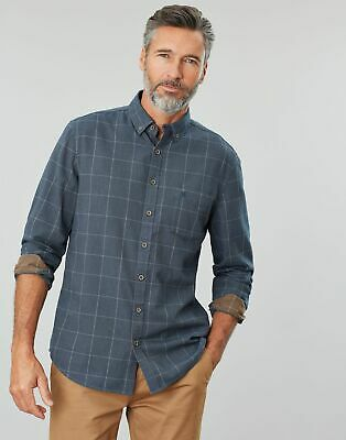 Joules Men Barbrook   Long Sleeve Classic Fit Flannel Shirt in  Size L