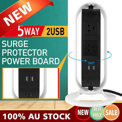 Creativity Power Board Strip USB +Socket Outlets Extension Cord Charger Charging