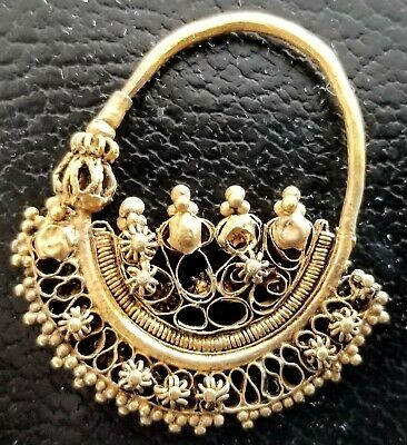 Large Ancient Roman-Byzantine Gold Earring