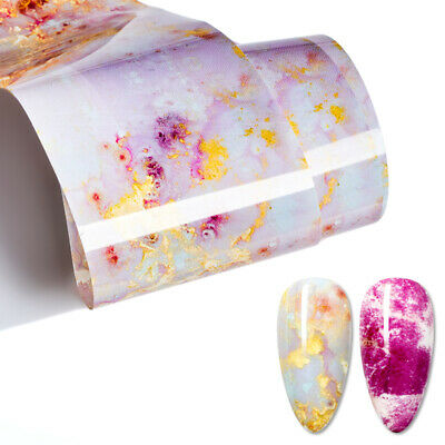 Sweet Marble Nail Foils Glitter Foil Nail Art Transfer Stickers Decals Tips DIY