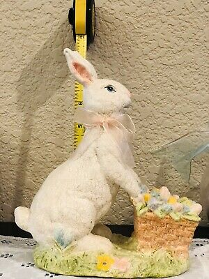 Glittery Easter Bunny With Easter Egg Cart