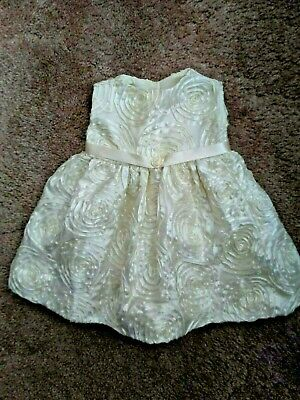 Baby Girl's Off White  Christmas Party Dress 3-6 Months