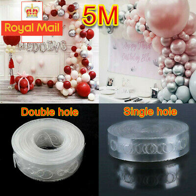 5M Balloon Arch Decor Strip Connect Chain Plastic DIY Tape Decorating String D