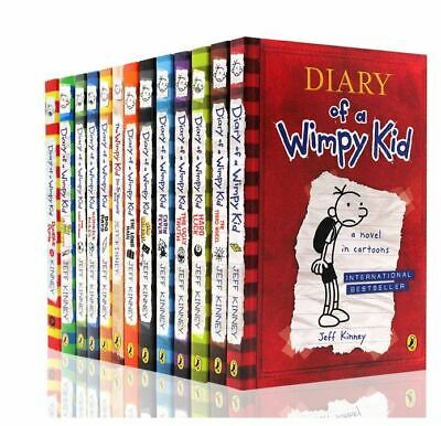 NEW! Diary of a Wimpy Kid Box Set Collection - 14 Books by Jeff Kinney Gift